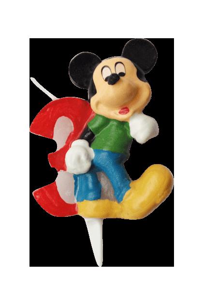 Mickey Mouse svjećica - broj