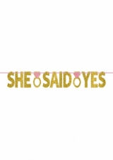 Banner ''She said yes''