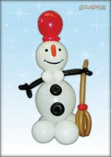 Snjegović s metlom