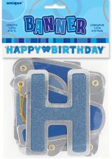 Baner Happy birthday plavi