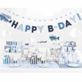 Banner HAPPY B-DAY s avionom i oblacima