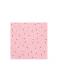 Salvete roze boje sa zvjezdicama