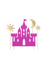 Ukras za tortu dvorac s mjesecom i zvijezdama