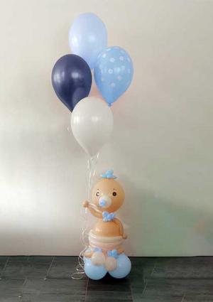 Beba s balonima-plavo