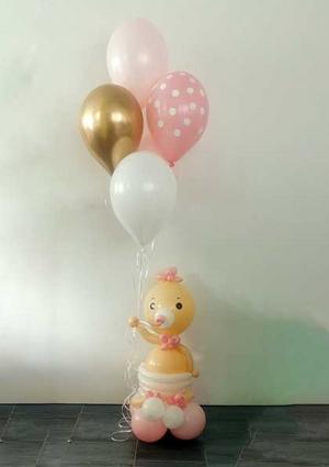 Beba s balonima- rozo