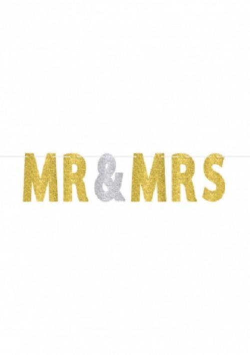 Natpis MR & MRS šljokičasti