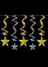 Viseća spiralna dekoracija - Zvijezde