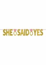 Banner ''She said yes''