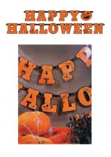 """Happy Halloween"" natpis"