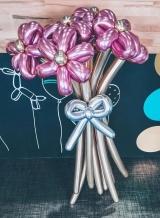 Buket cvijeća od krom balona