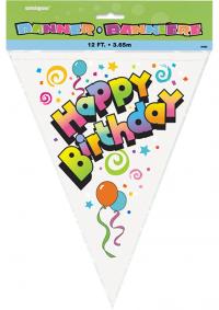 Baner zastavice Happy birthday