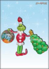 Grinch s poklonima i borom