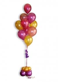 Kup od 10 helij balona sa postoljem od balona